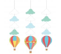 """Karināmās dekorācijas """"Gaisa baloni"""" (3 gab)"""