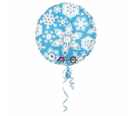 """Folija balons """"Gaišzilas sniegpārslas"""" (43 cm)"""