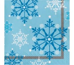 """Salvetes """"Sniegpārslas zilas"""" (16 gab)"""