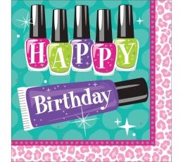 """Salvetes """"Skaistuma salons - Sveiciens dzimšanas dienā"""" (16 gab)"""