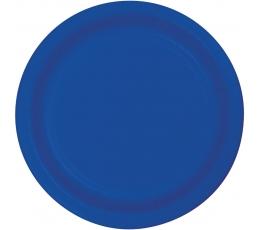 Šķīvīši, zili (8 gab/ 18 cm)