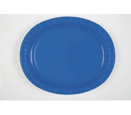 Šķīvīši, paplātes, spilgti zili (8 gab/30 cm)
