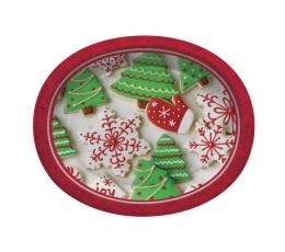 """Šķīvīši """"Ziemassvētku piparkūkas"""", lieli ovāli (8 gab/30 cm)"""