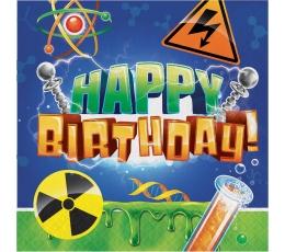 """Salvetes zinātnieks """"Daudz laimes dzimšanas dienā""""  (16 gab)"""