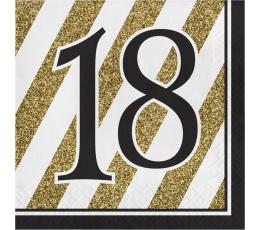 "Salvetes ""18"" zelta-melnas (16 gab)"
