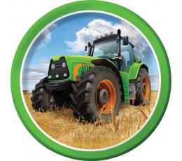 """Šķīvīši """"Traktori"""" (8 gab/18 cm)"""