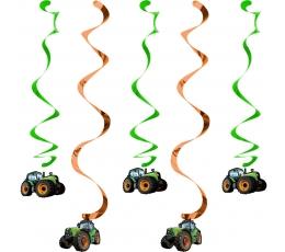 """Karināmās dekorācijas """"Traktori"""" (5 gab)"""