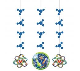 """Karināmas dekorācijas """"Zinātnieka labaratorija"""" (3 gab)"""