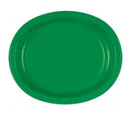 Šķīvīši, paplātes, tumši zaļi ovāli (8gab/30cm)