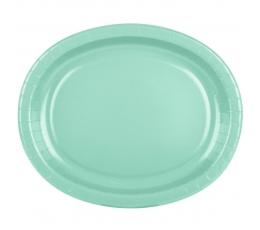 Šķīvīši, paplātes, piparmētru krāsā (8 gab/ 30 cm)