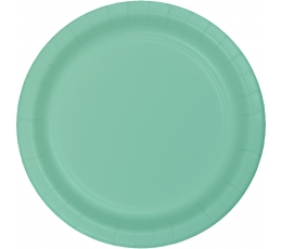 Šķīvīši, piparmētru krāsā (24 gab/18 cm)