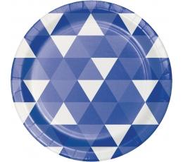 """Šķīvīši """"Ornamenti"""" tumši zili (8 gab/ 18 cm)"""