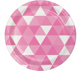 """Šķīvīši """"Rozā ornamenti"""" (8 gab/ 18 cm)"""