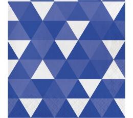 Salvetes, ornamenti - tumši zili (16 gab)