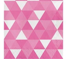 Salvetes, rozā ornamenti (16 gab)