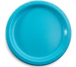Šķīvīši, tirkīzkrāsā (8 gab / 22 cm)