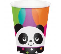 """Glāzītes """"Līksmā panda"""" (8 gab/ 266 ml)"""