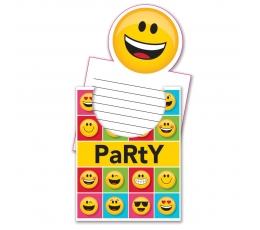 """Uzaicinājumi """"Smaidiņi -Emoji"""" (8 gab)"""