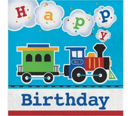 """Salvetes """"Vilcieniņš - Daudz laimes dzimšanas dienā"""" (16 gab)"""