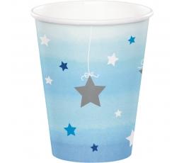 """Glāzītes """"Zilas zvaigznītes"""" (8 gab/266 ml)"""