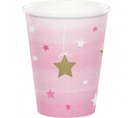 """Glāzītes """"Sārtas zvaigznītes"""" (8 gab/266 ml)"""