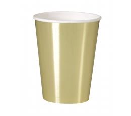 Glāzītes, zelta -spīdīgas (8 gab/ 355 ml)