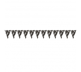 "Karodziņu virtene ""Ornamenti"", melna (2,74m)"