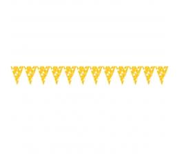 "Karodziņu virtene ""Dzelteni ornamenti"" (2,74 m)"