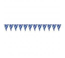 """Karodziņu virtene """"Ornamenti"""", tumši zili (2,74m)"""