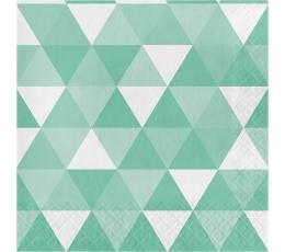 Salvetes, ornamenti - piparmētru krāsā(16 gab)