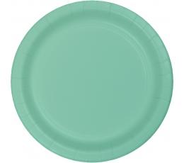 Šķīvīši, piparmētru krāsā (8 gab / 18 cm)