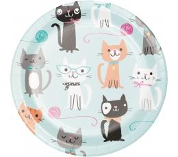 """Šķīvīši """"Kaķīši"""" (8 gab/18 cm)"""