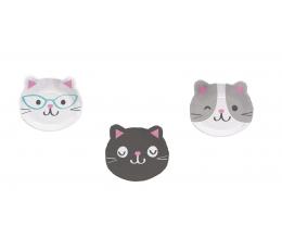 """Šķīvīši """"Kaķīši"""", formīgi (8 gab/ 23 cm)"""