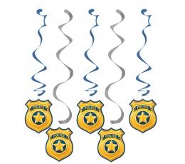 """Karināmas dekorācijas """"Policisti"""" (5 gab)"""