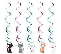 """Karināmas dekorācijas """"Kaķīši"""" (5 gab)"""