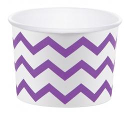 Чашечки для закусок, фиолетовые зигзаги (6 шт)