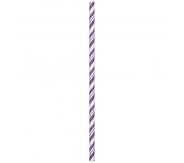 Трубочки, фиолетовые в полоску (24 шт)
