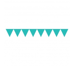 Karodziņu virtene, punktaina - tirkīza krāsā (2,74 m)