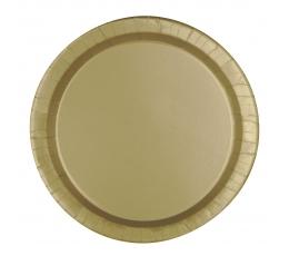 Тарелочки, золотого цвета (8 шт/ 17 см)