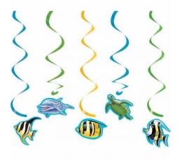 """Karināmās dekorācijas """"Okeāna noslēpumi"""" (5gab)"""