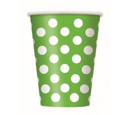 Glāzītes, salātkrāsas ar punktiem (6 gab/355 ml)