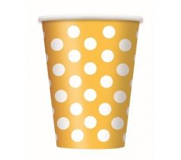 Glāzītes, dzeltenas ar punktiem (6 gab/355 ml)