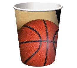 """Стаканчики """"Баскетбол """" (8 шт/266 мл)"""