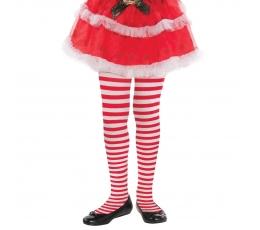 Meiteņu zeķbikses, sarkanas -baltas, svītrainas
