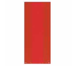 Plastikāta dāvanu maisiņi, sarkani (25 gab)