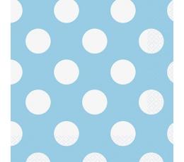 Салфетки, светло  синие в горошек  (16 шт)
