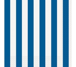 Salvetes, zilas-svītrainas (16 gab)