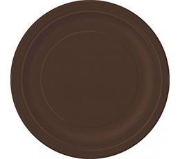 Тарелочки , коричневые  (8 шт/ 18 см)