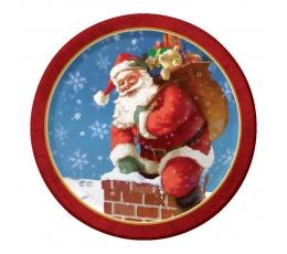 """Šķīvīši """"Ziemassvētku vecītis"""" (8 gab/17 cm)"""