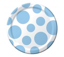 Šķīvīši, gaiši zili burbuļi (8 gab/17 cm)